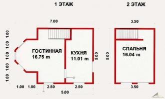 Дом из проф. бруса №21