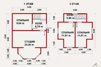 Дом из проф. бруса №26