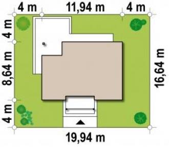 Каркасно-щитовой дом К76м