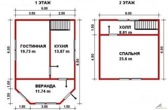 Дом из проф. бруса №30