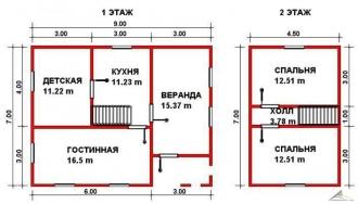 Дом из проф. бруса №35