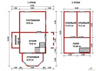 Дом из проф. бруса №39