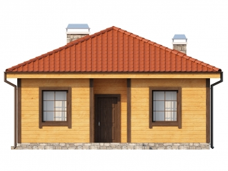 Каркасно-щитовой дом К82м