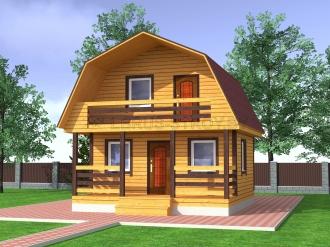 Дом из профилированного бруса №10