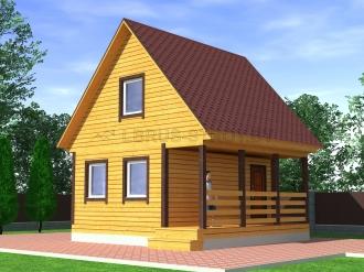 Дом из профилированного  бруса №11