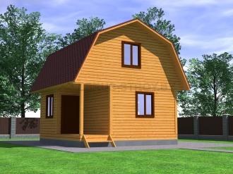 Дом из профилированного  бруса №14