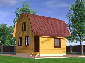 Дом из проф. бруса №28