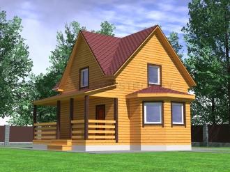 Дом из проф. бруса №40