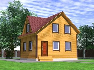 Дом из проф. бруса №45