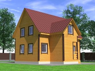 Дом из проф. бруса №56