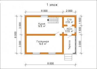 Дом из проф. бруса №22