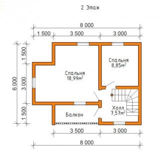 Дом из проф. бруса №50