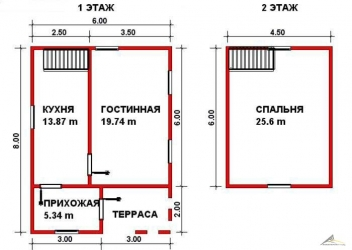 Дом из проф. бруса №23