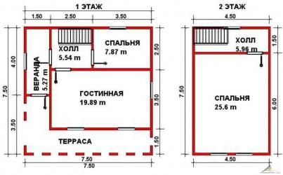 Дом из проф. бруса №29