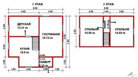Дом из проф. бруса №37