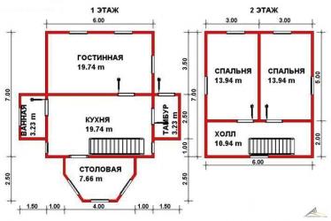 Дом из проф. бруса №41