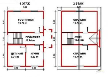 Каркасно-щитовой дом К47