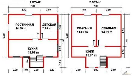 Дом из проф. бруса №49