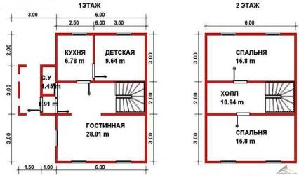 Дом из проф. бруса №54