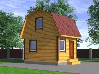 Дом из профилированного бруса №1