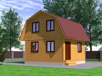 Дом из профилированного бруса №13