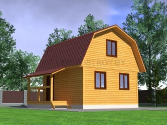 Дом из профилированного  бруса №15
