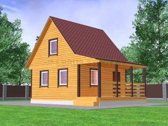 Дом из профилированного бруса №19