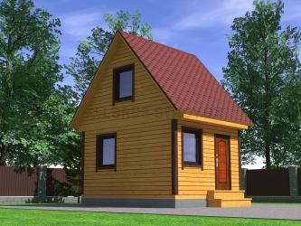 Дом из профилированного  бруса №2