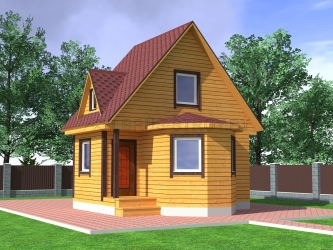 Дом из проф. бруса №24
