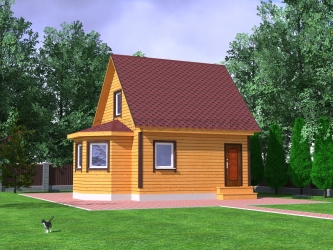 Дом из проф. бруса №25