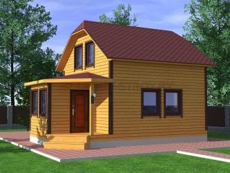 Дом из проф. бруса №33