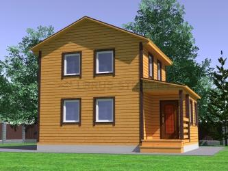 Дом из проф. бруса №34