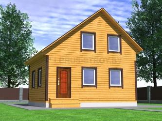 Дом из проф. бруса №43
