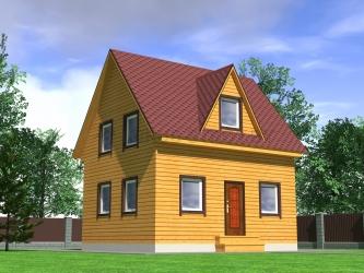 Дом из проф. бруса №48