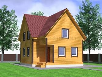 Дом из проф. бруса №53
