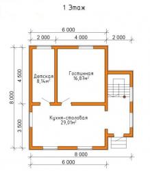 Дом из проф. бруса №55